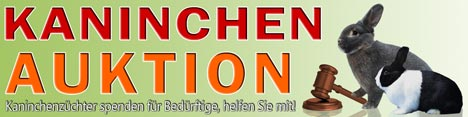 Banner Kaninchenauktion Ulm Bundesrammlerschau